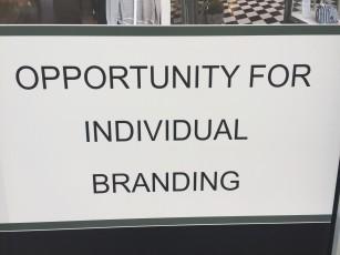 branding sign