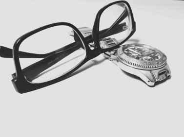 accessory black and white close up eyeglasses